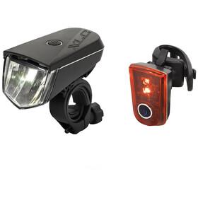 XLC LED Zestaw oświetlenia na baterię wraz z odblaskiem